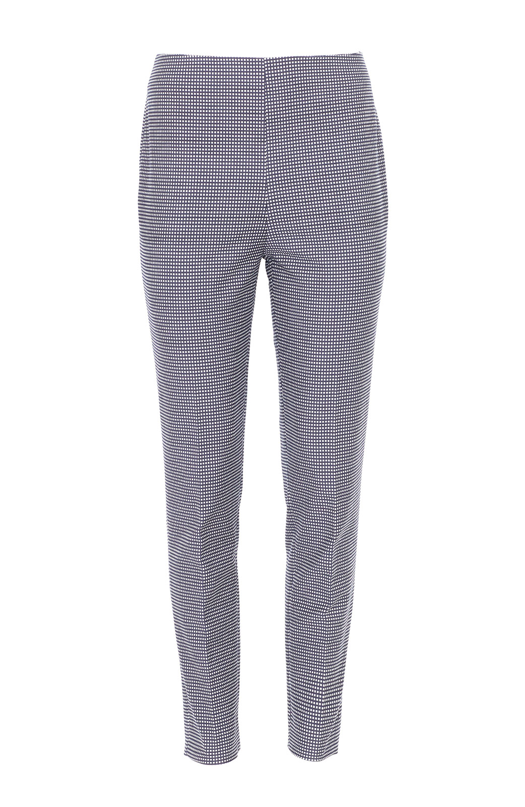 <ul><li>Checked stretch jacquard slim, straight leg Susie pant</li><li>High-rise, flat front with concealed zip fastening at center back</li><li>Cotton/Polyamide/Lycra</li><li>Dry clean</li><li>Made in USA</li></ul>